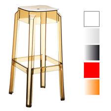 Tabouret de bar FOX plastique chaise  repose-pieds cuisine salle à manger neuf