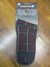 ENDURA PLAID CYCLING SOCKS  - S -M