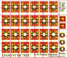 Foundry Shield Decals for Early Imperial Roman Legionaries. Legio VI