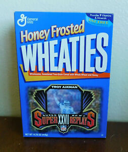 1996 Wheaties Troy Aikman Dallas Cowboys Super Bowl XXVII Replays Motion Card