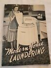 Vintage Speed Queen Washing Machine Modern Laundering Housewife  26 Pages 1949