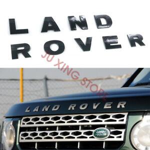 Gloss Black LAND ROVER Letter Front Hood badge emblem For LAND ROVER LR2 LR3 LR4