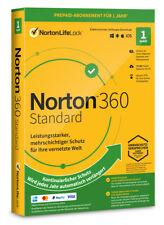 Norton 360 Standard 1Gerät 1 Jahr PC/Mac/Android 2021 2022 Internet Security ESD