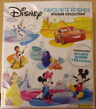 Disney Favourite Friends ~ Panini Sticker Collection Starter Pack + 26 Stickers