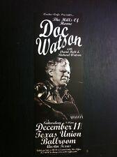 Doc Watson Rare Original Limited Ed Cactus Cafe Texas Bluegrass Concert Poster