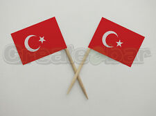 72 Turkish Flag Picks - Buffet Sandwich Cupcake Toppers - TURKEY Flags