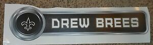 """Saints DREW BREES 26""""x6.5"""" name plate banner Sign NFL Fathead Vinyl Wall Graphic"""