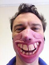 Half Face Masks 10 x Funny Random Mixed Big Teeth Clown Fancy Dress Stag Party