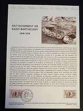 FRANCE MUSEE POSTAL FDC 03-78  RATTACHEMENT DE ST BARTHELEMY  1,10F ST BART 1978
