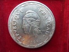 NEW HEBRIDES 100 FRANCS 1966 SILVER FRANCE FRANCIA cod. EBRIDI-1