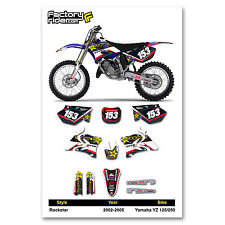 2002-2005 YAMAHA YZ 125-250 Team Rockstar Motocross Dirt Bike Graphics kit Decal