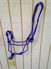 Purple 4 Knot Natural Horsemanship Hand Tied Rope Halter Bitless Bridle