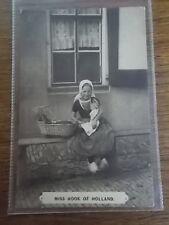 Dutch Postcard Child Girl & Doll Miss Hook of Holland Netherlands 1922 BW Photo