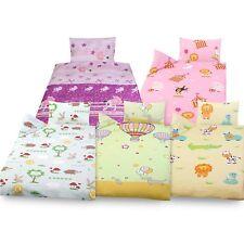 3 tlg Kinder Baby Bettwäsche Set 100x135 cm + 40x60 cm + 1 Spannbettlaken 70x140