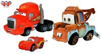 "Disney Cars Plush McQueen 17cm(6.6"") & Disney Cars Plush Mack & Mater 25cm(9.8"")"