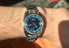 Seiko 7005 7052 Automatic Automatico Blue Dial 17 Jewels Vintage Rare