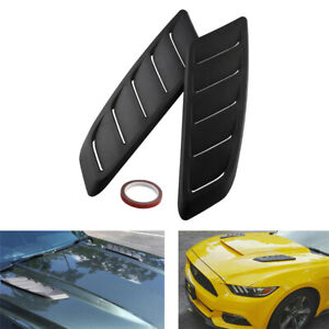 2PCS ABS Universal Car Decorative Air Flow Intake Scoop Bonnet Fender Vent Hood