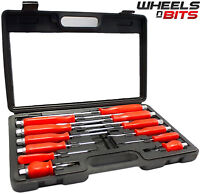 12PC HEAVY DUTY ENGINEERS MECHANICS SCREWDRIVER SET HEX BOLSTERS SCREW DRIVERS