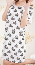 Rabbit Women Short Sleeve Waist String Loose Dress b124 acc03335