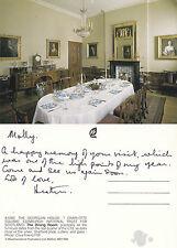 1980's GEORGIAN HOUSE DINING ROOM EDINBURGH SCOTLAND COLOUR POSTCARD