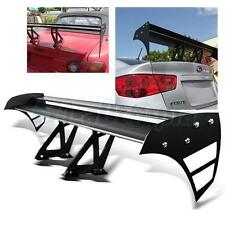"Adjustable Universal 52"" Aluminum GT Double Deck Racing F1 Spoiler Wing Black"