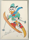(PRL) 1985 WALT DISNEY PAPERINO DONALD DUCK SKIER CARTOLINA POSTCARD COLLECTION