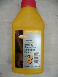 clutch brakefluid Delphi DOT3 spec 50 x 500ml bottles job lot brake fluid