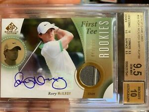 2014 SP Game Used - Rory Mcilroy - First Tee Rookies Shirt Auto /199 - BGS 9.5