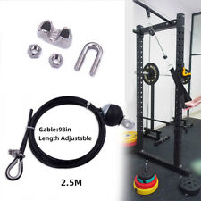 Heavy Duty 2.5M Gym Cable Fitness Pulley Length Adjustable Steel Wire Rope Home