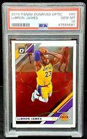 2019 Donruss Optic Lakers Future HOF LEBRON JAMES Card PSA 10 GEM MINT Low Pop