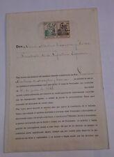 NOMBRAMIENTO DE PROCURADOR 1933 CON FIRMA DE NICETO ALCALA ZAMORA  33x23 Cm