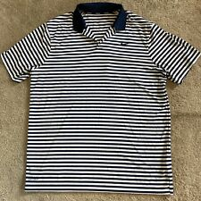 """Nike Golf """"Dri-Fit"""" Striped Short Sleeve Polo Shirt Size Xl Perfect Condition"""