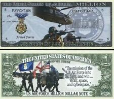 Commemorative US AIR FORCE Million Dollar FLY FIGHT WIN Novelty Bill USA SELLER