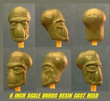 Custom Star Wars 6 INCH SCALE DUROS RESIN CAST HEAD Black Series Cantina Force