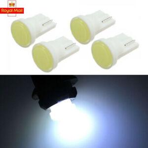 4X T10 Car Bulbs COB Led w5w 501 Side Lights Interior Number Plate Bulb Wedge UK