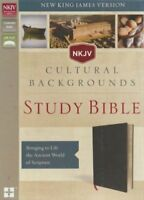 NKJV, Cultural Backgrounds Study Bible, Bonded Leather, Black