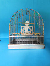 Vintage Hendryx 1940's Bird Cage With Extra'S Parakeet Canary Glass Feeder