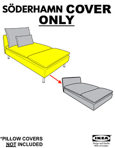 Ikea SÖDERHAMN Chaise cover, Finnsta white Article # 003.283.14
