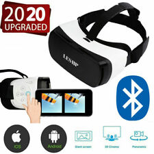3D VR Headset ,Virtual Reality Glasses Bluetooth Goggles for Iphone & Android US