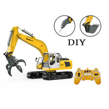 3 in 1 Remote Control Excavator RC Tractor Bulldozer Crawler Truck Toy Metal Car