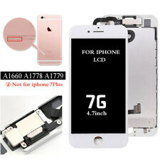 White LCD Display 3d Touch Screen Digitizer Assembly for iPhone 7 US With Front Camera & Ear Speaker