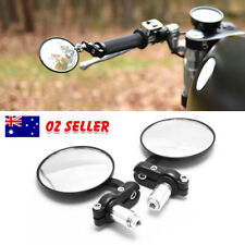 "2 * Universal Motorcycle Motorbike Mirrors 7/8"" Rearview Bar End Aluminum Honda"