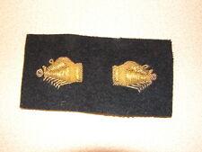 Original WW2 US Navy PHOTOGRAPHER Officers Bullion-Wire Gold Cuff Insignia-Pair