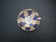 Vintage  English Bone China PARAGON Teacup & Saucer Blue & Gold