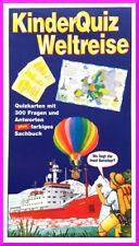 Kinder Quiz Weltreise mit Buch Rate Spiel Karten activity uno junior elfer raus