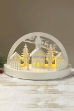 LED Wooden Church Scene Illuminated Christmas Light Decoration
