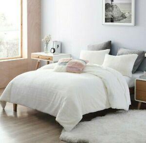 UGG Charlisse Faux Fur 3-Piece Full/Queen Comforter Set in Snow