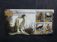PAPUA NEW GUINEA 2017 RARE BIRDS 4 STAMP MINI SHEET MINT STAMPS