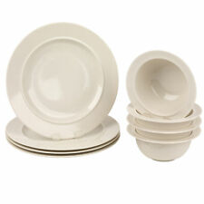 Alessi COMBO-3350 Porcelain Plates and Bowls Set, 16 Piece