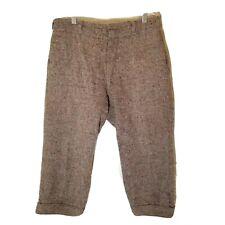 Vintage WOOLRICH Hunting Riding Breeches Wool Tweed Pants Sz 32 Brown Knickers